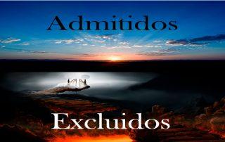 admitidos y excluidos