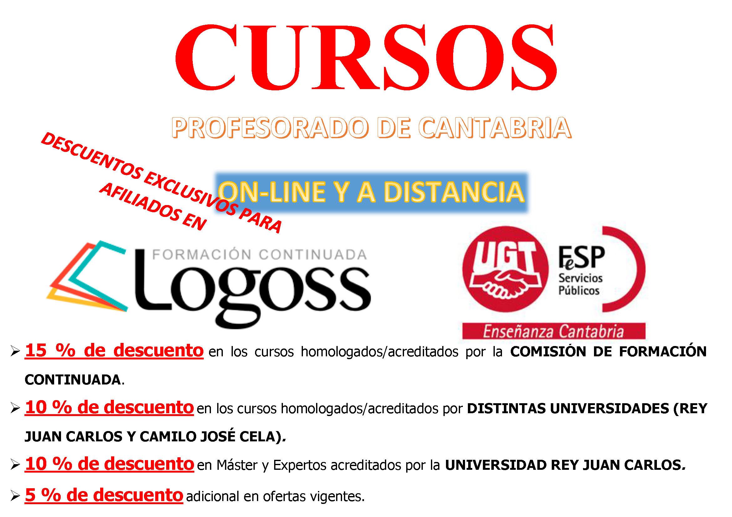Cartel Cursos Horizontal Ugt Ensenanza Cantabria